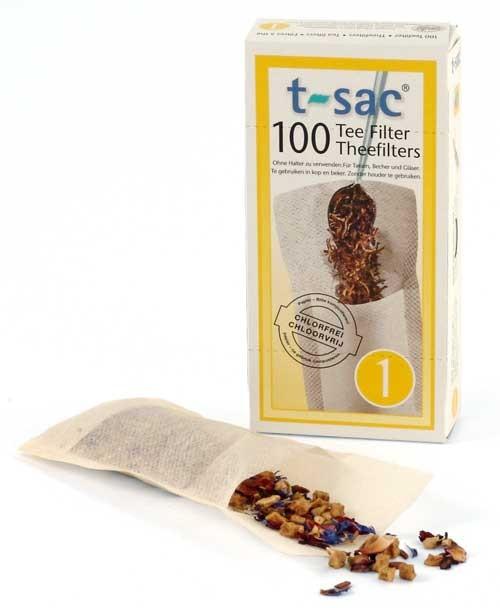 1 kops t-sac papieren theefilters