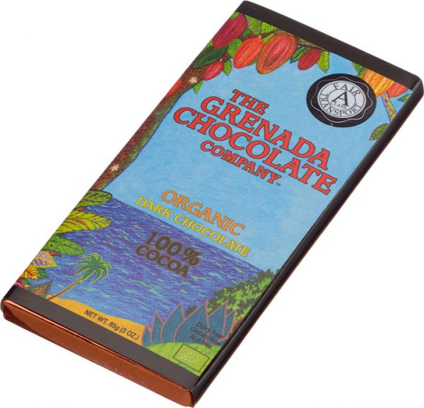 Grenada Chocolate Company Organic Dark Chocolate 100 procent
