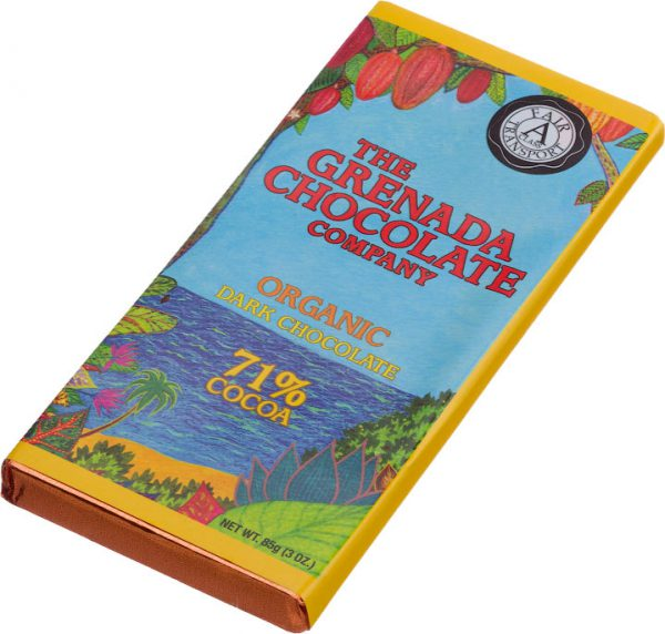 Grenada Chocolate Company Organic Dark Chocolate 71 procent