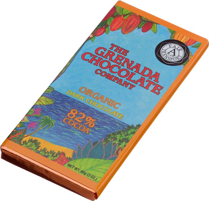 Grenada Chocolate Company Organic Dark Chocolate 82 procent
