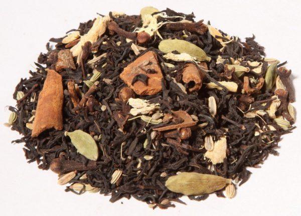 black spicy bombay chai zwarte losse thee bio